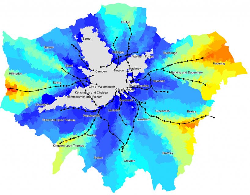 La mappa dello Sky Cycle, il progetto di Norman Foster